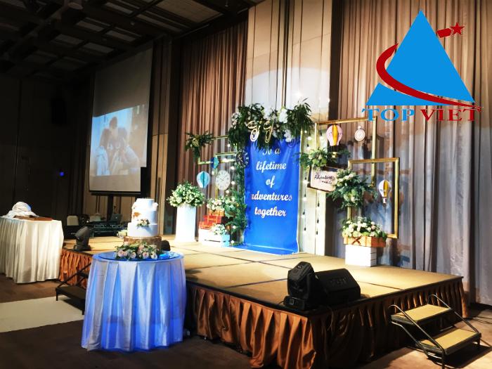 trang tri san khau backdrop